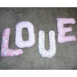 МК буквы из ткани для декора