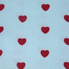 Ткань в сердечки