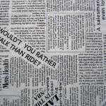 Ткань газетка