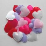 Сердечки из ткани